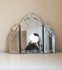 LIKE NEW - Venetian Dressing Table Mirror