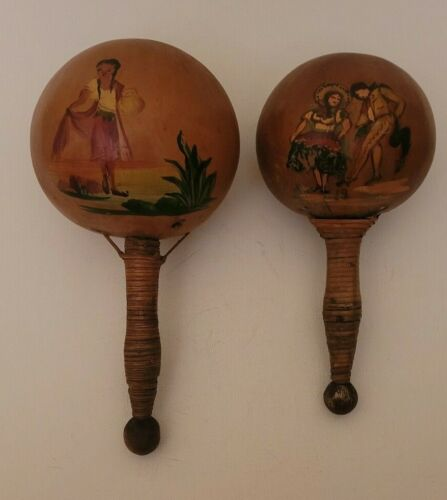 Very Old Wooden Maracas, Late 40