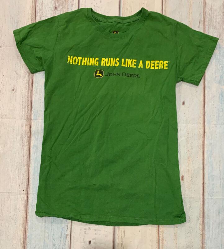 "John Deere Green T-Shirt ""NOTHING RUNS LIKE A DEERE"" Women's Size Large"