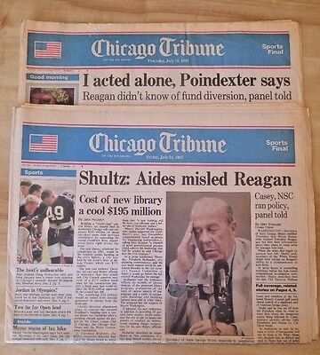 Chicago Tribune  Iran Contra Affair  2  Papers   July 16   24  1987