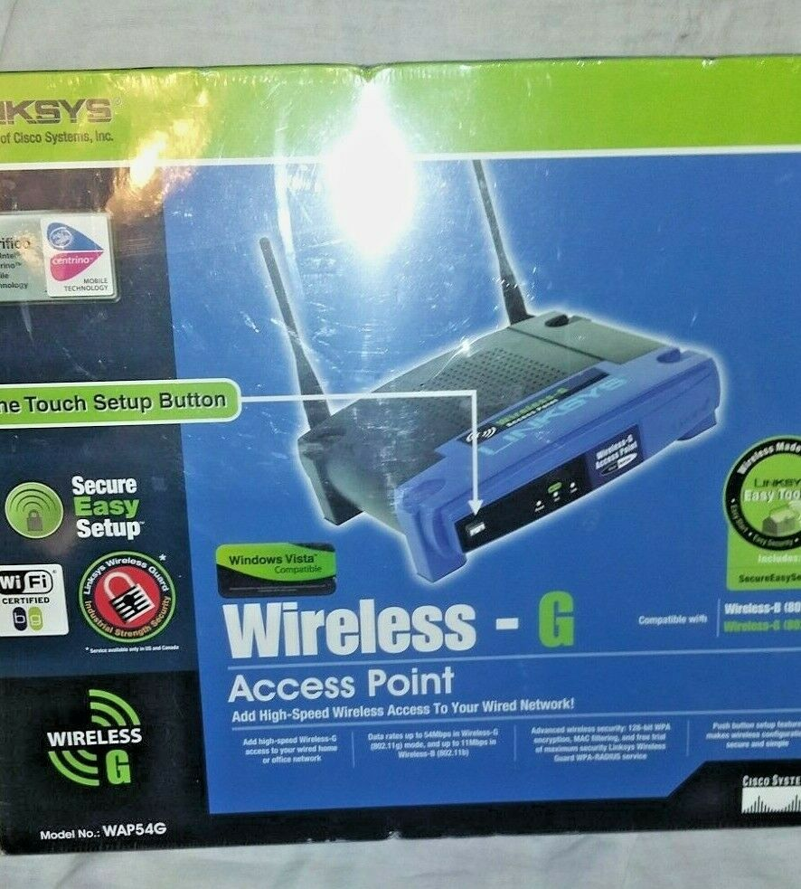 Cisco-Linksys WAP54G Wireless-G Access Point