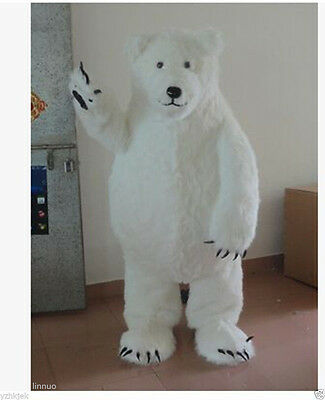 High quality Polar Bear Mascot Costume Halloween Party Dress](Polar Bear Costume Halloween)