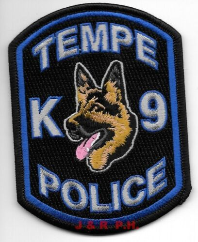 "Tempe  K-9 Unit, Arizona  (3"" x 4"" size) shoulder police patch (fire)"