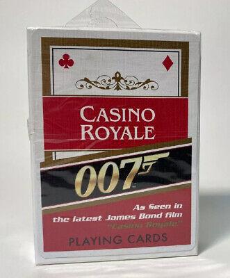 Sealed Deck Playing Cards James Bond Casino Royale 007 Cartamundi NOS Black Back