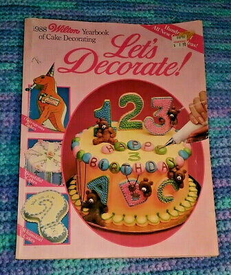 1988 Wilton Yearbook Cake Decorating book GREAT Cake, cookie and cupcake IDEAS](Cupcake Decorating Ideas)