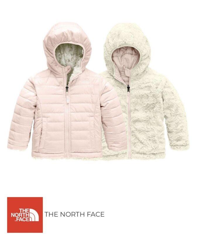North Face Infant Reversible Mossbud Swirl Jacket Coat Pink White 6-12 Mos NWT