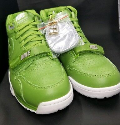 new product fdd6d 2e361 NIKE AIR TRAINER 1 MID SP FRAGMENT SZ 9.5 CHLOROPHYLL GREEN WHITE 806942 331