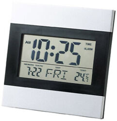 Aluminum frame Multifunctional digital clock large screen liquid crystal alarm