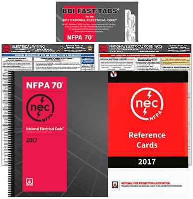 NFPA 70: National Electrical Code (NEC), Spiralbound, Package (FTQCEWRC) 2017 Ed