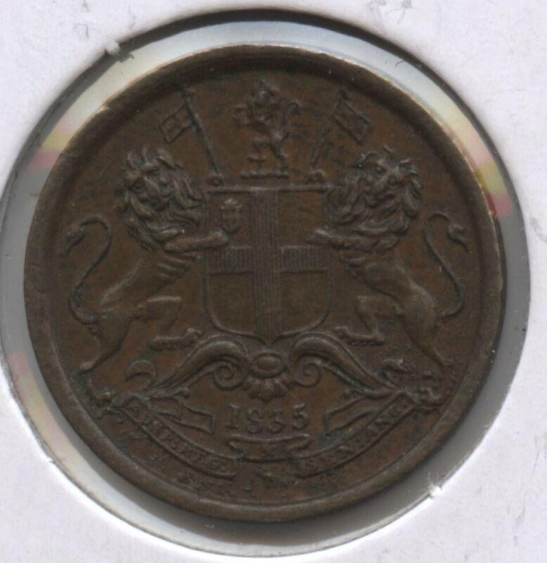 1835 East India Company Coin 1/12 Anna - BC215