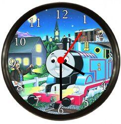 Thomas The Train Wall Clock Black Frame