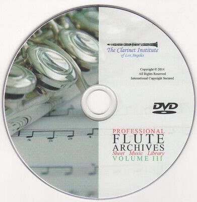 PROFESSIONAL FLUTE SHEET MUSIC Vol. 3 Archive - DVD - Flash Drive - PDF