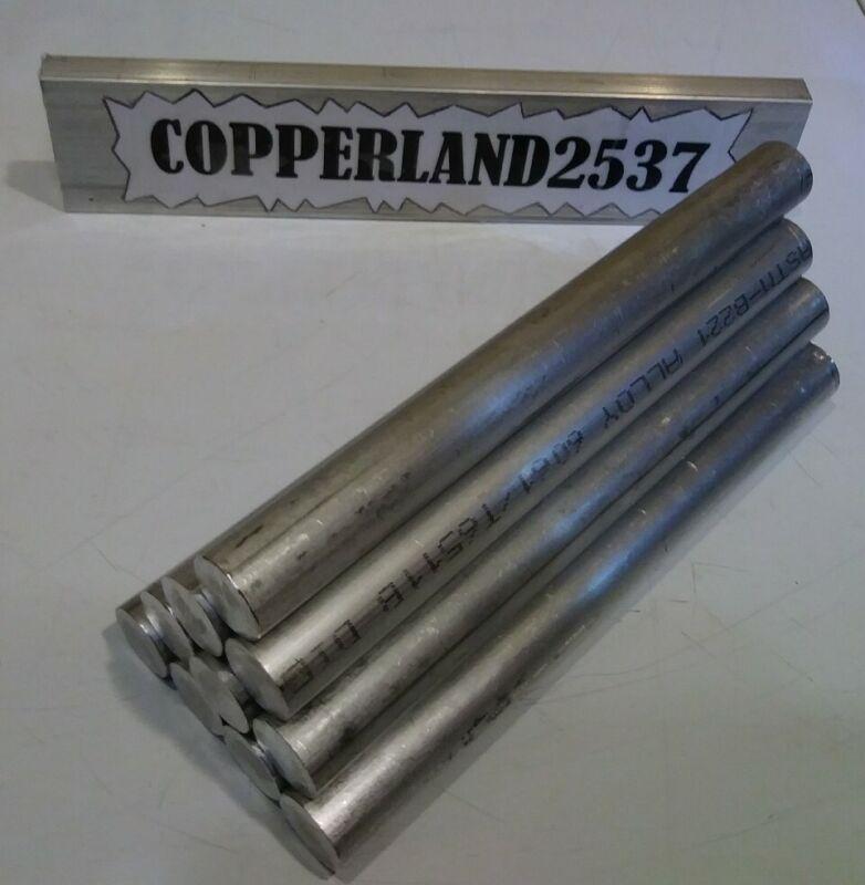 """SALE""  10 pc 3/4 diameter X 7-1/4 long 6061 aluminum rod cnc lathe round stock"