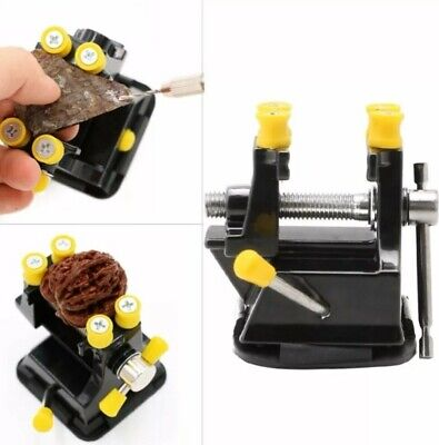 Mini Small vice Suction Cups Fixed Stand Model Building Watchmaker Clamp