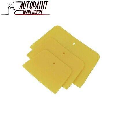3 X CAR BODY FILLER PLASTIC TYPE FILLER SPREADER - FLEXIBLE BODYSHOP AND DIY