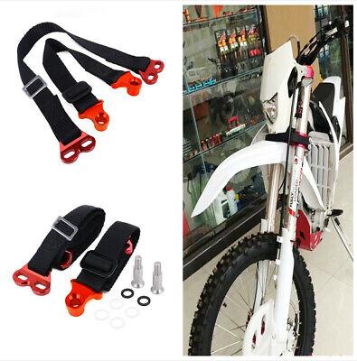 2Pcs CNC Adjustable Universal Motorcycle Dirt Bike Front&Rear Rescue Pull Belts