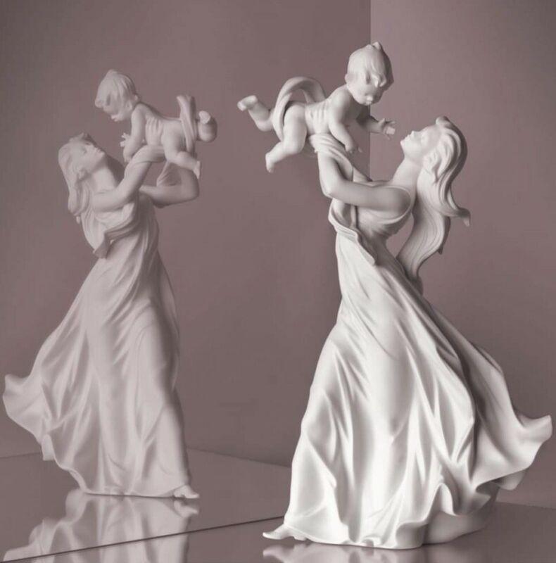 Lladró porcelain By Lladro. Maternity The My Beautiful Bebè. Version White
