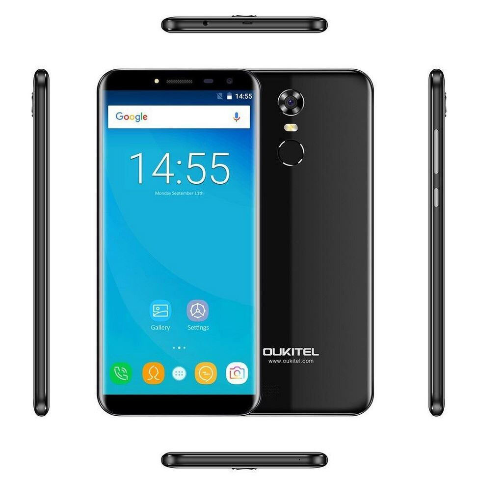 """OUKITEL C8 3G Phablet 5.5"""" 2.5D Arc Screen Android 7.0 1.3GHz Quad Core 2GB+16GB Finger ID"""
