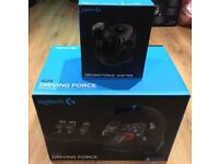 Logitech G29 Driving Force Racing Wheel set and Shifter