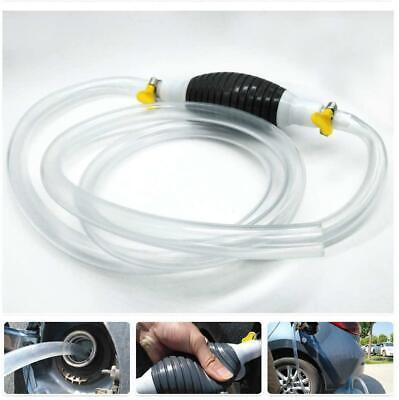 Portable Manual Car Siphon Pump Fuel Gas Transfer Oil Liquid -Hand Air Pumps Kit
