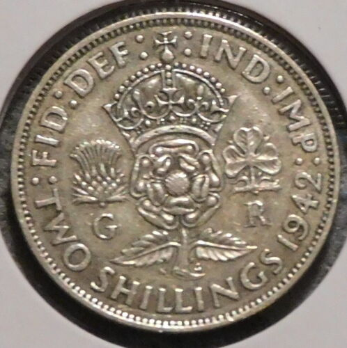 British Florin - 1942 - Overstock Sale! - $1 Unlimited Shipping -45