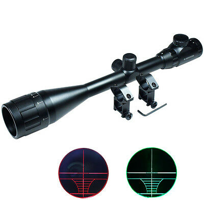 6-24x50 Hunting Rifle Scope Red Green Rangefinder illuminated Optical Gun Scope