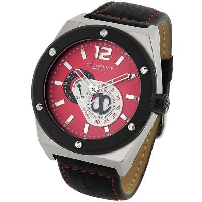 Stuhrling 281 332D540 Original Esprit Automatic GMT Red Dial Mens Watch