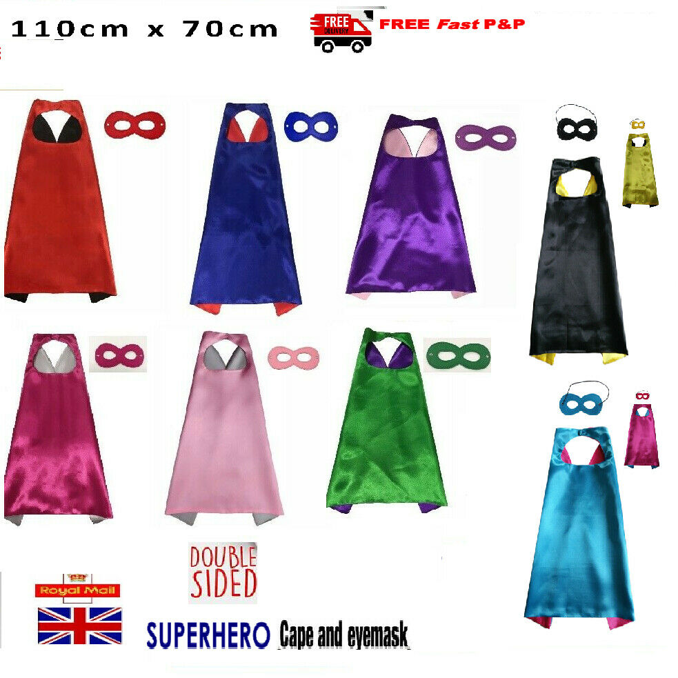 Adult superhero Cape and Mask Unisex Men - Women Fancy Dress