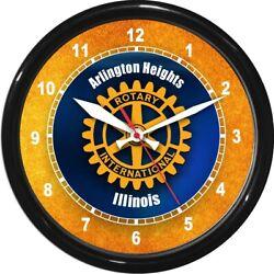 12 Rotary Club Personalized Wall Clock Service Organization Identification