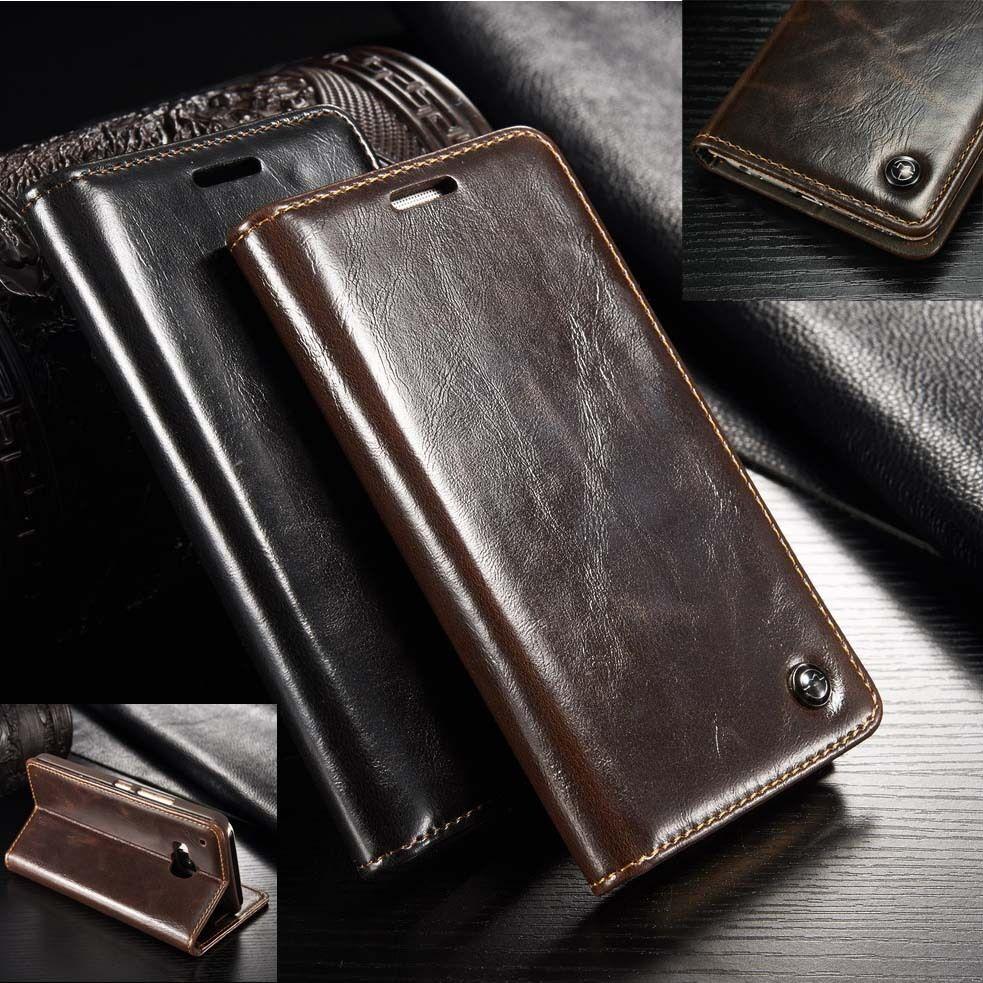 Cuero Genuino Funda Con Soporte Tipo Cartera Para Huawei P20 Pro P10 Mate 20 Pro Ebay