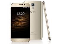 New Original 5.5'' UMI ROME X Gold 3G Smartphone 13MP SONY CAM Quad core Android 5.1 1GB+8GB GPS