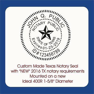 Texas Notary Round Seal-custom Trodat Ideal 400r Self Inking Rubber Stamp