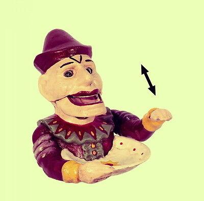 Spardose Nussknacker Cloun Mechanik Geschenk z Party Sammler Antikspielzeug