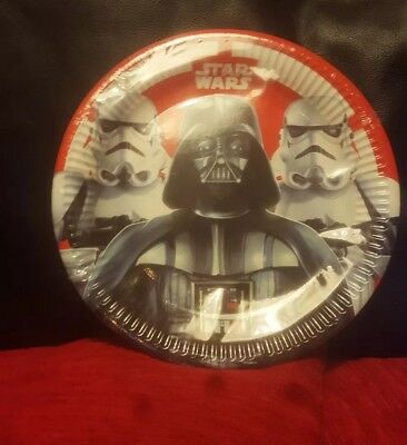 Star Wars The Force Awakens  23cm Paper Party Plates 8pk birthday party supplies