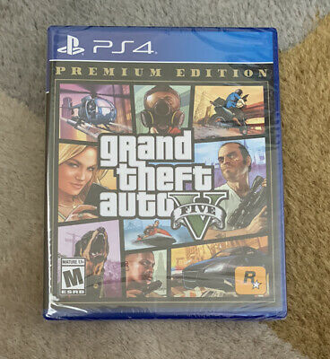 Grand Theft Auto V PREMIUM EDITION (Sony PS4, 2013) Authentic Factory Sealed