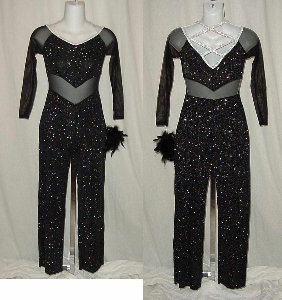 Clearance Dance All Night Disco Glitter Jumpsuit Dance Costume Child Large