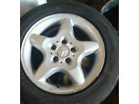 Mercedes 16inch alloy wheel removed from vito.