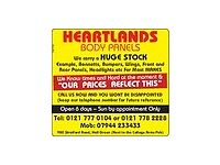closing down sale heartlands bodypanels ford citroen Peugeot and many other makes available