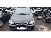 Vauxhall Zafira Club 2.0 DTI 2003 5 speed manual Black Y20DTH