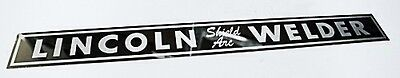 Lincoln Sa-200 Shield Arc Mirrored Stainless Steel Nameplate Qty-1 Bw612