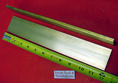 2 Pieces 14 X 2 C360 Brass Flat Bar 12 Long Solid .25 Mill Stock H02