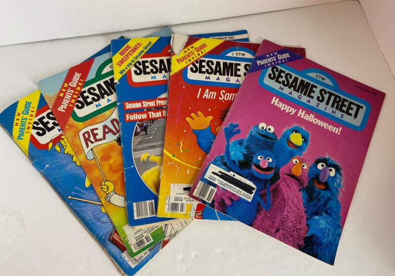 Sesame Street Magazine 1980s Lot Childrens Learning Fun Big Bird Earnie Bert