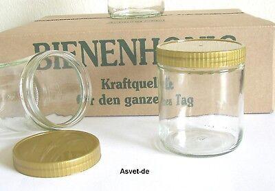 36 Honiggläser 500g neutral, neu , mit Deckel und Karton, Imkerei Honig Bienen
