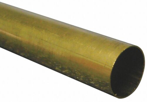 "Brass Round Tube - 2-3/16"" x .100"" x  36"""