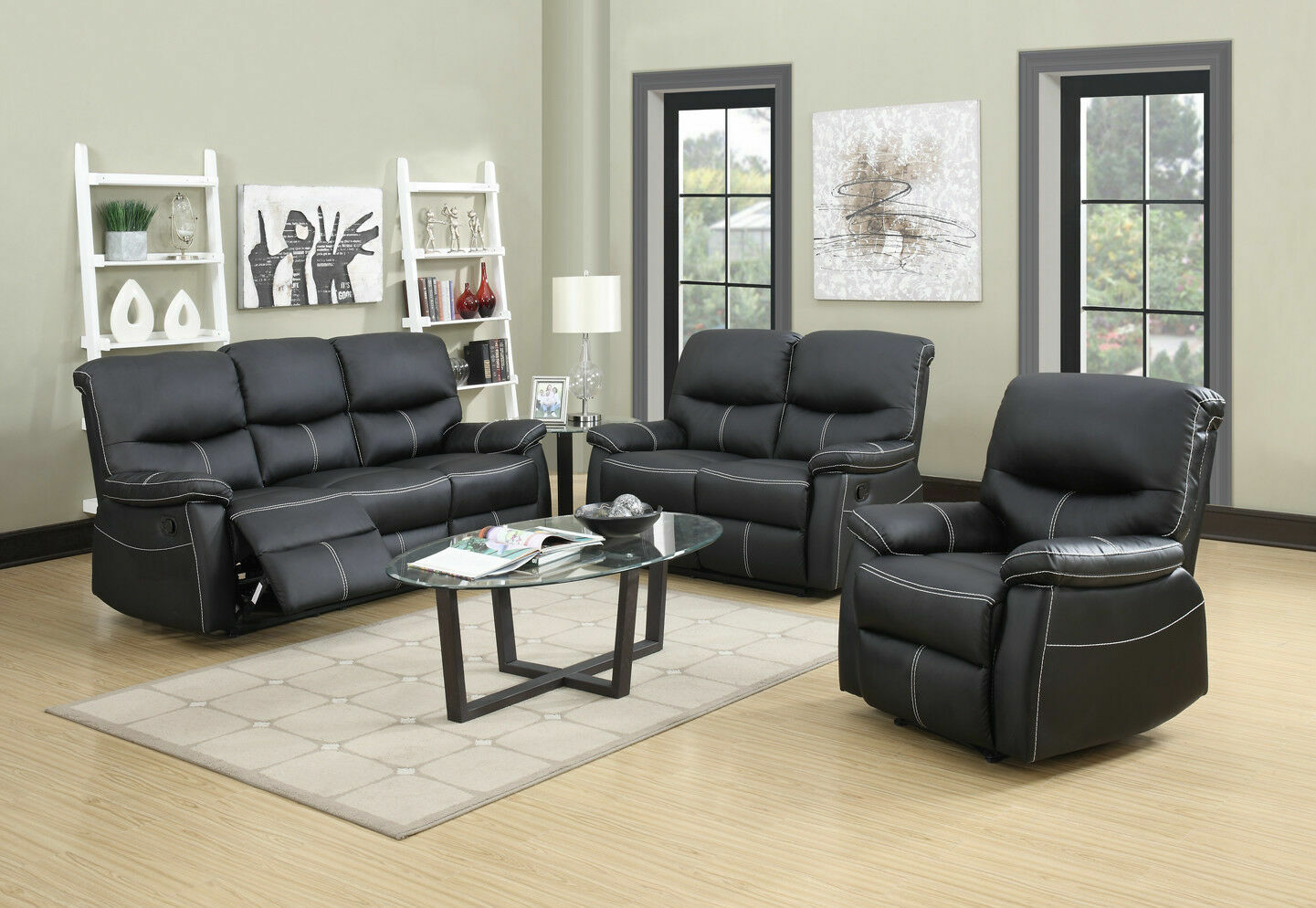 New Loveseat Chaise Couch Recliner Sofa Chair Leather Accent Chair PR Furniture