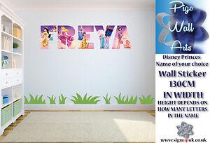 Disney Princess wall art sticker YOUR NAME wall sticker Childrens Bedroom
