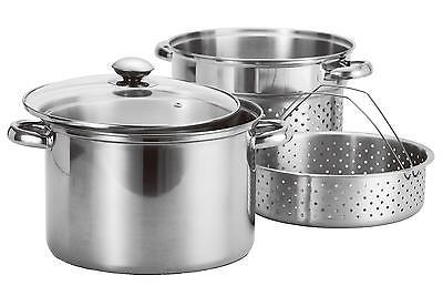 8Qt Quart Stainless Steel 4pc Stock Pot ...