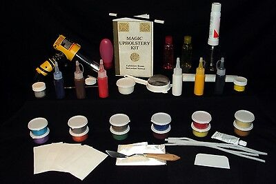 Upholstery Vinyl Kit - *Magic Upholstery Mega-Combo Kit : Fix Vinyl-Leather-Fabric !