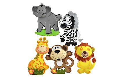 Safari Animal 3D Foam Decorations-Jungle Animals-Circus Animals-Safari Theme L (Circus Themed Baby Shower Decorations)