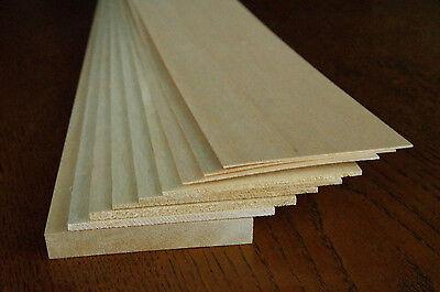 Balsa-Holz Brettchen 9 Stück - unterschiedlich lang und dick - siehe Text!